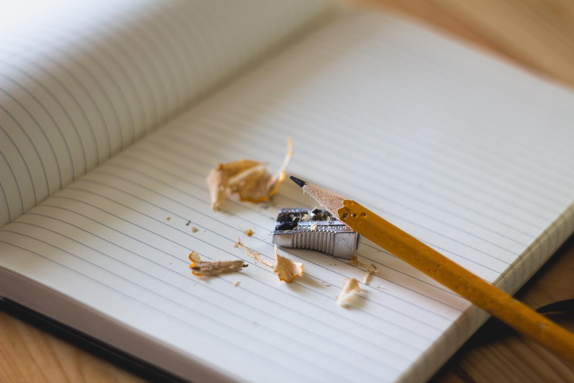école, études, matériel, scolaire, minimaliste